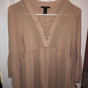 Forever 21 babydoll pink mauve top size small